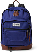 Eastpak Sugarbush Into The Out Leather-trimmed Canvas Backpack