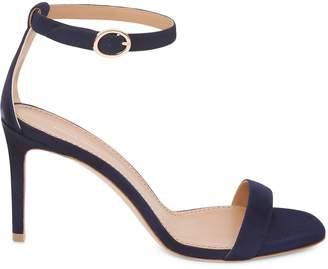 Mansur Gavriel Suede 90MM Ankle Strap Sandal - Blu