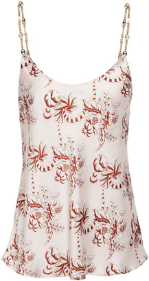 Paco Rabanne Chain-trimmed Printed Satin Camisole