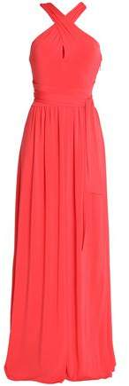 Halston Cutout Knotted Stretch-Jersey Gown