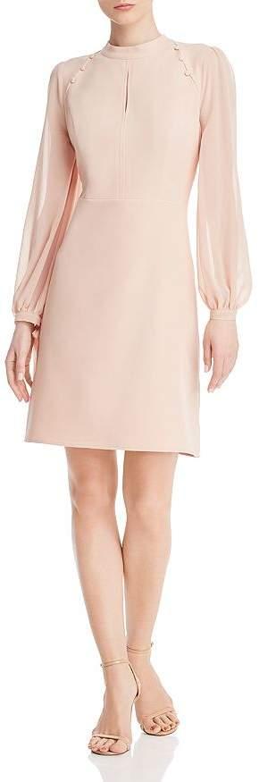 Nanette Lepore nanette Mock-Neck Keyhole Dress