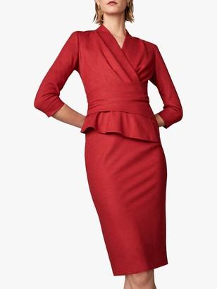 The Fold Arlington Wool Dress, Red