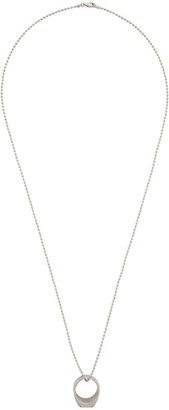 DSQUARED2 Silver Ring Pendant Necklace