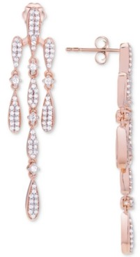 Wrapped in Love Diamond Chandelier Earrings (3/4 ct. t.w.) in 14k Rose Gold, Created for Macy's