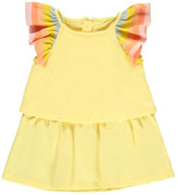 Chloé Sale - Striped Ruffle Jersey Dress