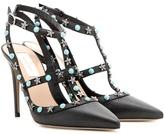 Valentino Garavani Starstudded leather pumps