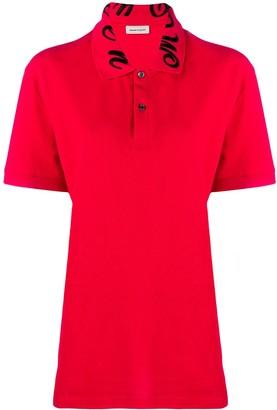 Alexander McQueen Logo-Collar Polo Shirt