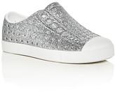 Native Girls' Jefferson Glitter Perforated Slip-On Sneakers - Walker, Toddler, Little Kid