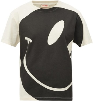 Raf Simons Smiley Face-print Cotton T-shirt - Womens - Ivory