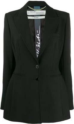 Off-White Hourglass Single-Breasted Blazer