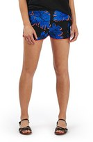 Topshop Women's Dark Palm Print Shorts