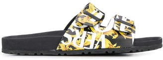 Versace double buckle sandals