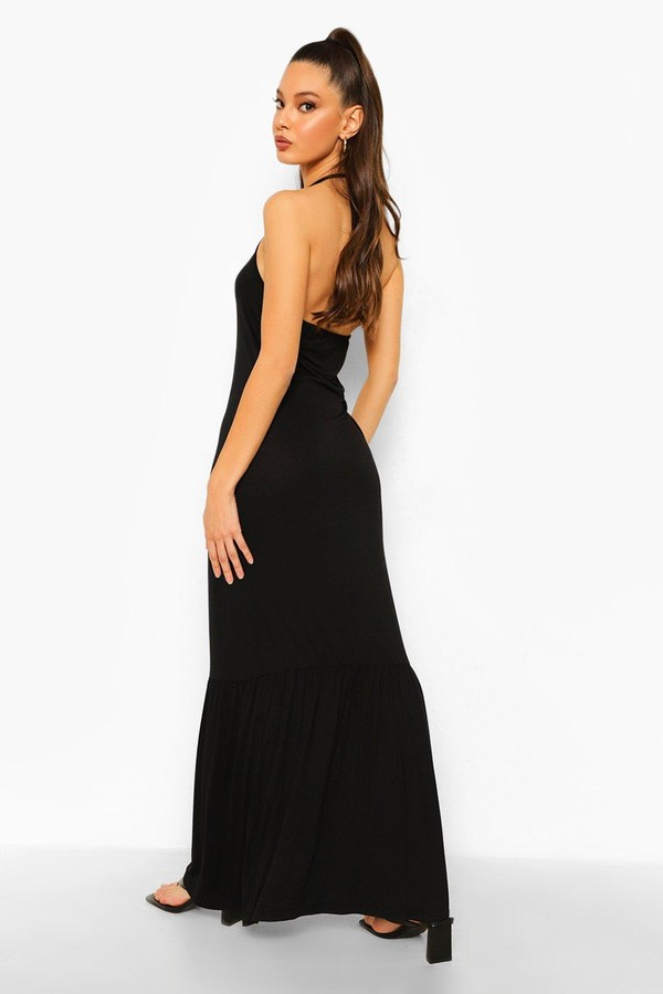 Thumbnail for your product : boohoo Racer Neck Drop Neck Maxi Dress