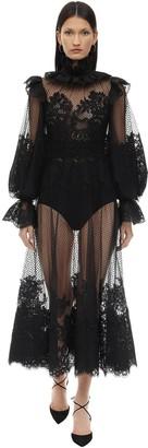 Zimmermann Ruffled Lace Midi Dress
