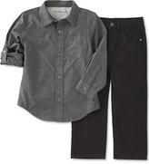 Calvin Klein Baby Boys' 2-Pk. Button-Up Shirt & Pants Set