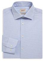 Armani Collezioni Plaid Cotton Button-Down Shirt