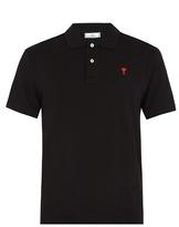 Ami de Coeur-embroidered cotton polo shirt