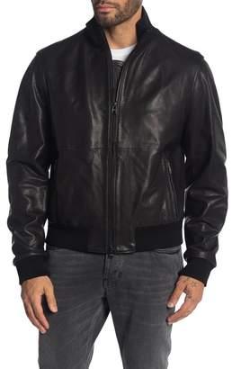 BOSS Nalan Lamb Leather Bomber Jacket