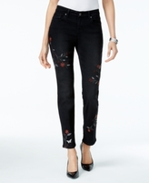 Style&Co. Style & Co Style & Co Petite Embroidered Slim-Leg Ankle Jeans, Created for Macy's