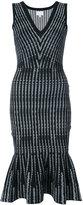 Milly peplum midi dress - women - Nylon/Spandex/Elastane/Rayon - XS