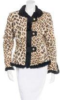 Roberto Cavalli Fur-Trimmed Printed Jacket