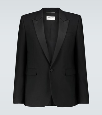Saint Laurent Single-breasted tuxedo blazer