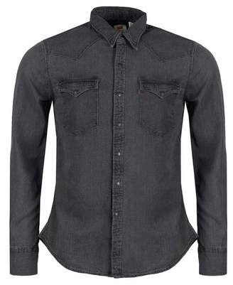 Levi's Barstow Western Denim Shirt Colour: Black Worn, Si