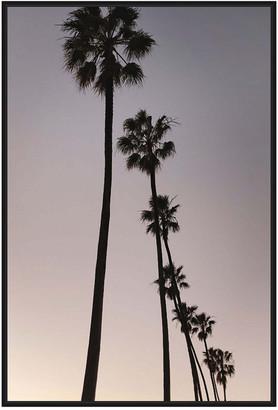Jonathan Bass Studio Palm Tree Silhouettes, Decorative Framed Hand Embe