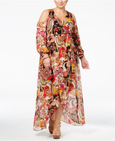 INC International Concepts Plus Size Cold-Shoulder Maxi Dress, Only at Macy's