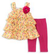 Kids Headquarters Babys Two-Piece Tunic and Capri Pants Set