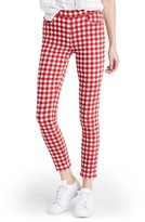 Madewell Women's High Riser Gingham Crop Skinny Pants
