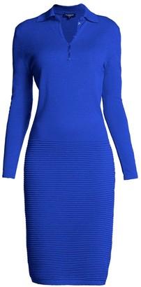 Rumour London Olivia Azure Blue Soft Merino Wool Blend Dress