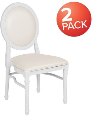 Altizer Upholstered Round Side Chair in White House of Hampton Upholstery Color: White, Leg Color: White