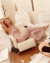 Lipsy Vip All Over Lace Halter Maxi Dress