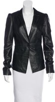 Elizabeth and James Long Sleeve Leather Blazer