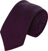 Barneys New York Men's Grenadine Necktie-PURPLE