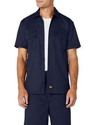 Dickies Men's Work Workwear Shirt, (Navy Blue)
