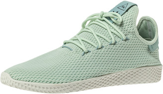 adidas Pharrell Williams x Mint Green Cotton Knit PW Tennis Hu Sneakers Size 46