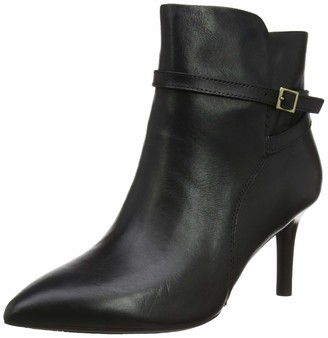 Rockport Women's Total Motion Ariahnna Strap Boot Ankle (Black Leather 001) 7 (41 EU)