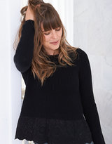 aerie Lace Bottom Sweater
