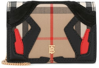 Burberry Vintage Check canvas clutch