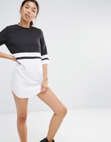 Boohoo Colour Block Shift Dress