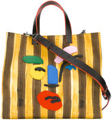 Fendi striped canvas bag - men - Cotton/Leather/Resin - One Size