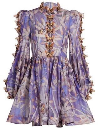 Zimmermann Wild Botanica Butterfly Mini Dress