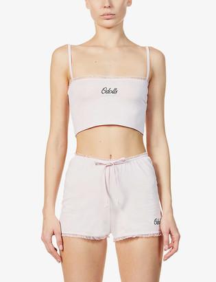 Odolls Collection Sleep ruffle-trimmed stretch-cotton pyjama top