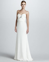 Notte by Marchesa Bead-Bodice Strapless Gown