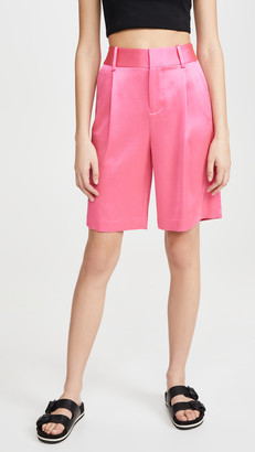 Alice + Olivia Eric High Waist Bermuda Shorts