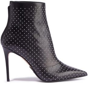 Balmain Studded Leather Ankle Boots