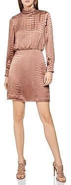 Reiss Emma Snakeskin Burnout Dress