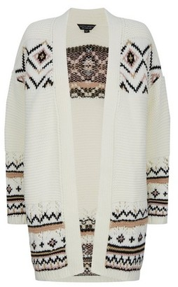 Dorothy Perkins Womens Cream Aztec Print Cardigan, Cream